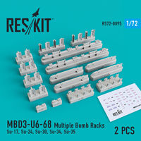 MBD3-U6-68 Multiple Bomb Racks (Su-17, Su-24, Su-30, Su-34, Su-35) (2 pcs)