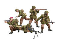 WWII British Paratroops In Combat Set A - Image 1