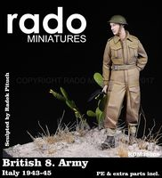 British 8. Army Italy 1943-45 PE & extra parts included - Image 1