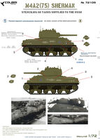 M4A2 (75) Sherman - Stenciling on Tanks Supplied to the USSR