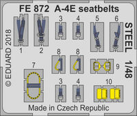 A-4E  seatbelts STEEL  HOBBY BOSS - Image 1